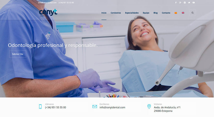 ¡Estrenamos web de Cenyt Dental!